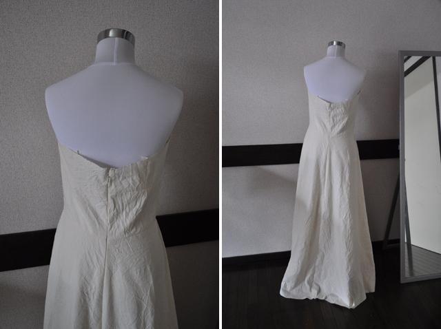 Here Is The Back View Since This Wedding Dress