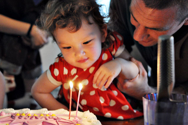 birthday cake with daddy
