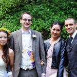 vivat veirtas wedding silk painted dress and vest2