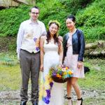vivat veirtas wedding silk painted dress and vest3