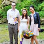 vivat veirtas wedding silk painted dress and vest4