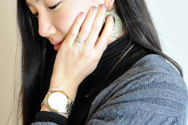 dainty gold chain bracelet by vivat veritas