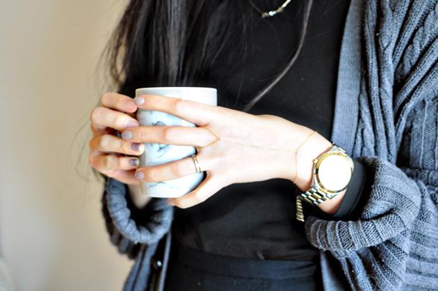 dainty gold chain bracelet by vivat veritas2