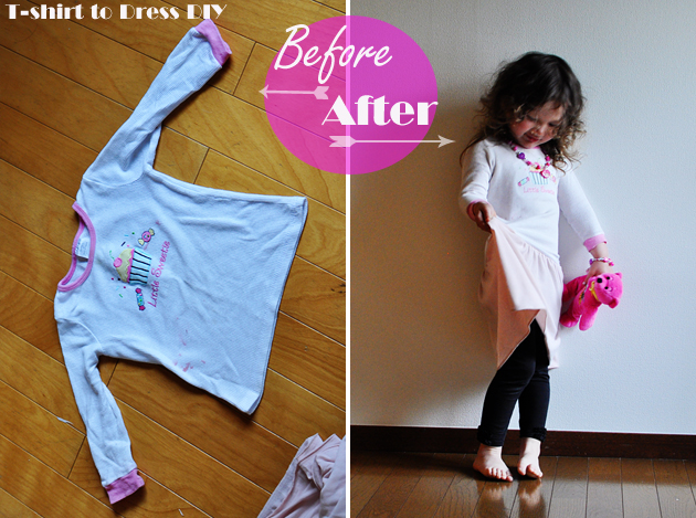 t-shirt to dress DIY Vivat Veritas Blog