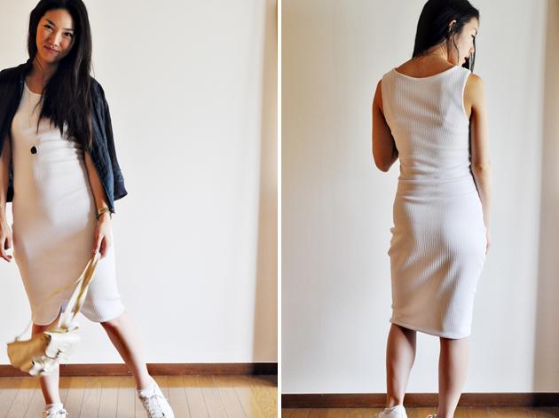 white tank dress with tulip hem vivat veritas blog2