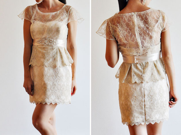 two way wedding dress peplum top via vivat veritas blog