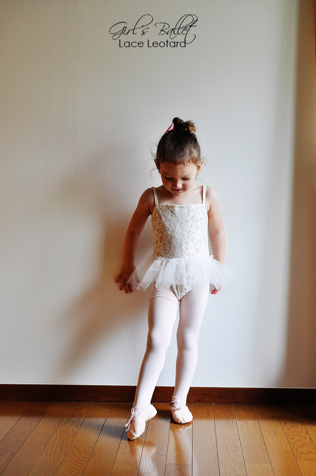 little girls lace leotard w caption