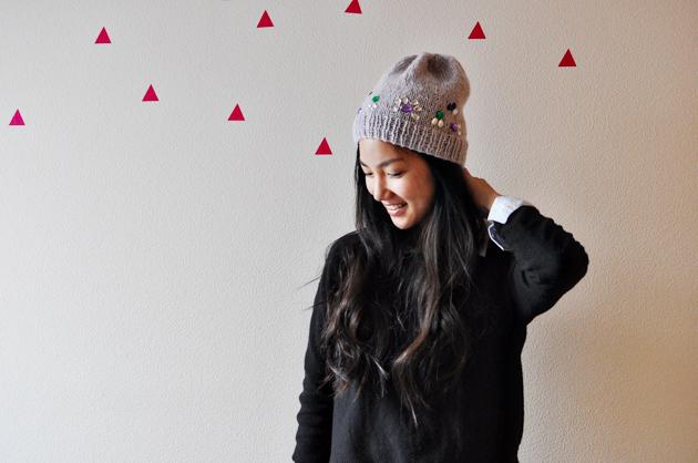 knitted hat diy vivat veritas2