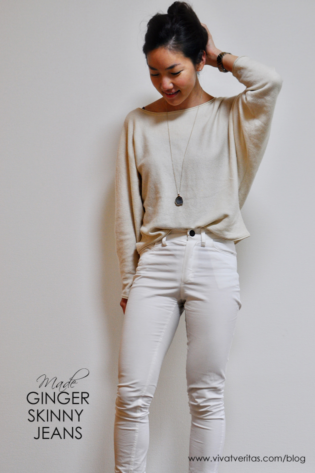 ginger skinny jeans in white twill by closet case files vivat veritas