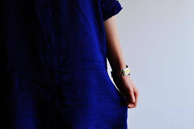 Grainline  Archer Button Up Dress Variation Vivat Veritas1