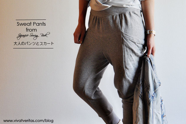 Sweatpants from Japanese sewing book Vivat Veritas