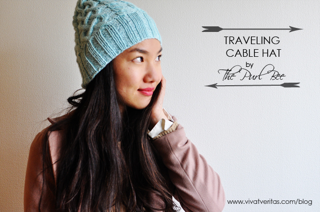 Traveling Cable Hat by The Purl Bee Vivat Veritas