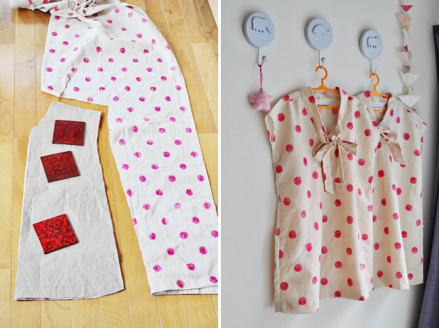 Polka Dot Dress from Old Curtain