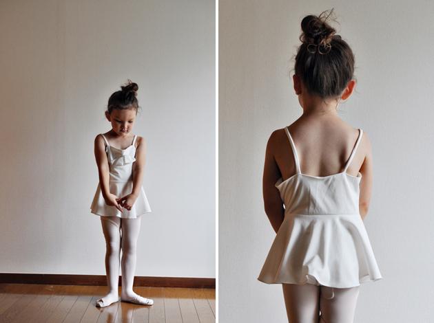 handmade bow leotard for little girl