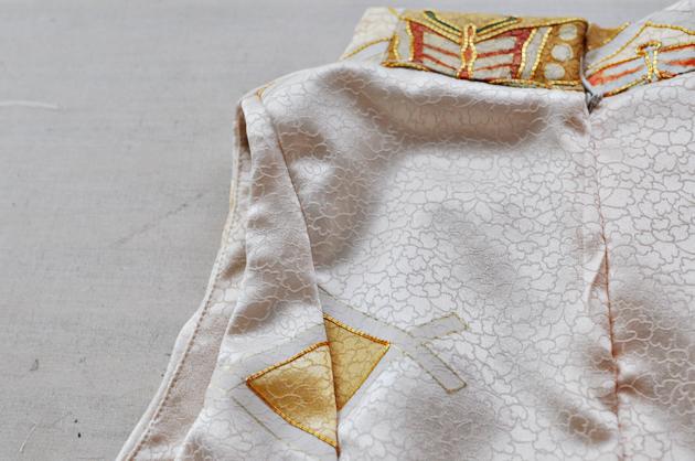 Beige Kimono Dress Details