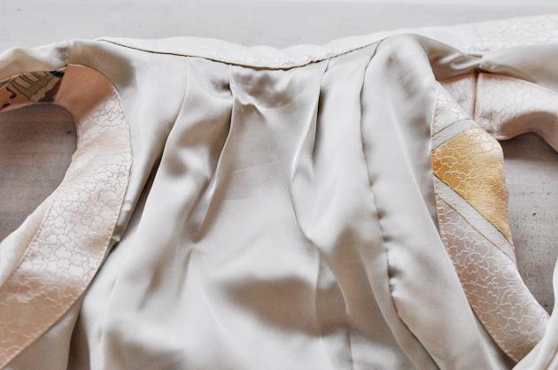 Beige Kimono Dress Inside