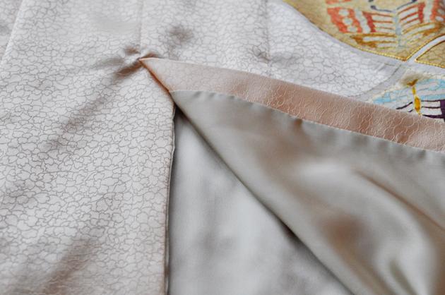 Beige Kimono Dress Vent