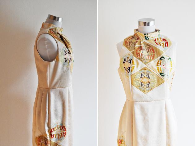 Beige Kimono Dress