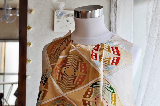 Beige Kimono Remake Dress via Vivat Veritas