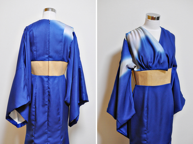 Kimono upcycle dress