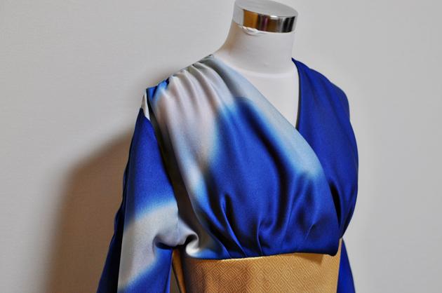 blue kimono dress kimono remake
