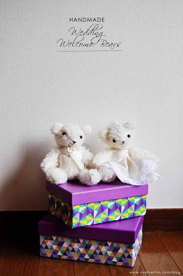 Handmade Wedding Welcome Bears by Vivat Veritas Blog