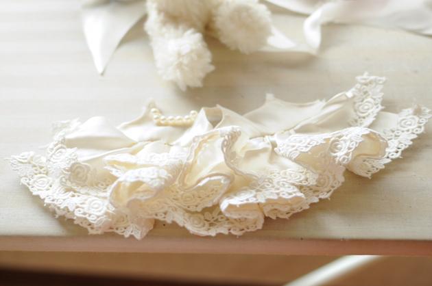 Tiny teddy bear wedding dress
