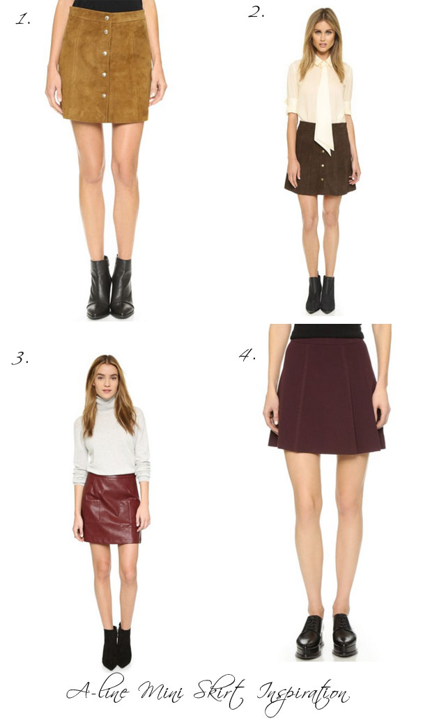 A line mini skirt inspiration for fall 2015
