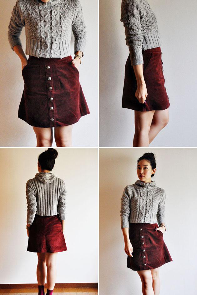 MADE | Ox Blood A-Line Skirt | Vivat Veritas