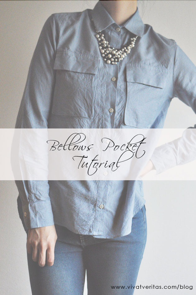 Bellows Pocket Tutorial - free sewing tutorial!
