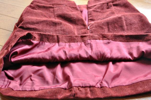inside construction of corduroy skirt1