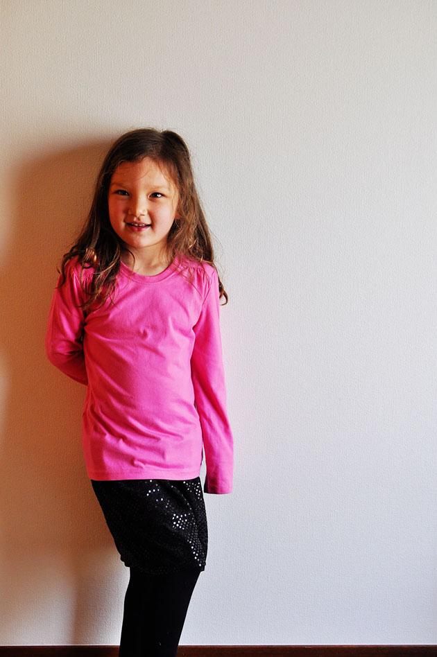 DIY kids sequin skirt