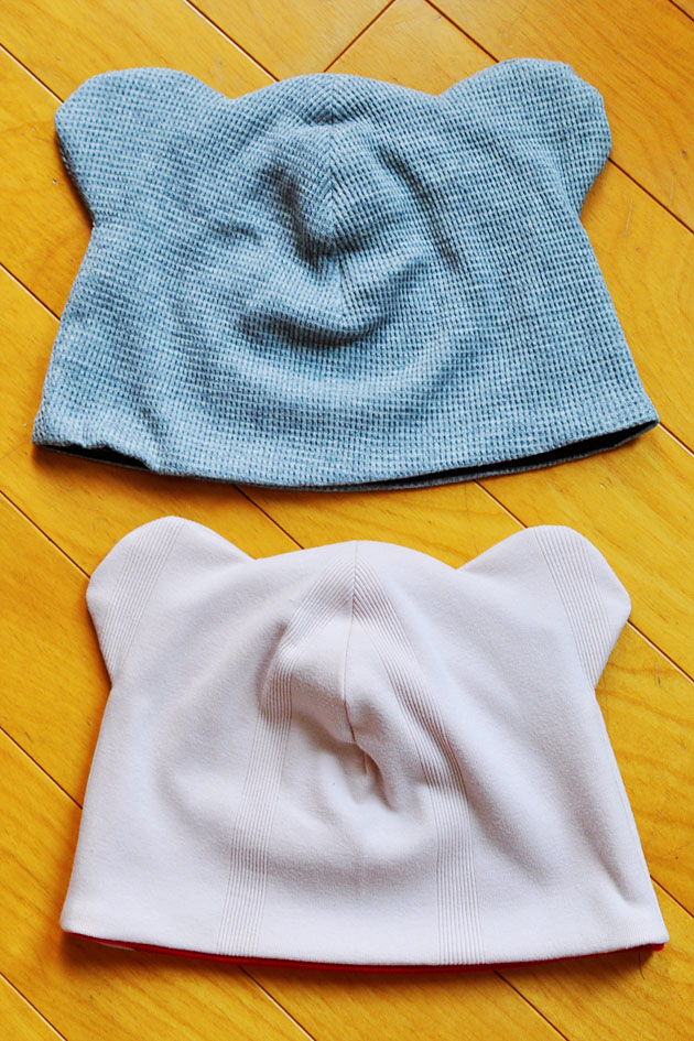 Handmade bear ear baby hats