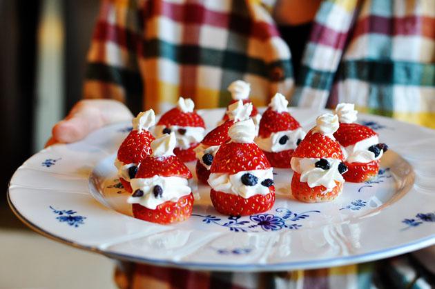 Instagram inspired strawberry christmas snack