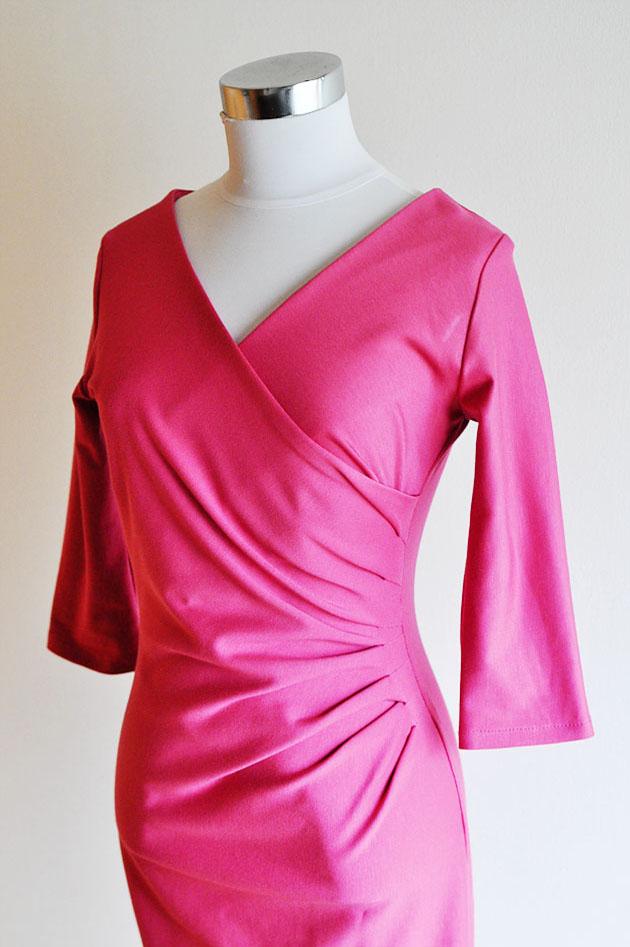 Magenda color wrap dress