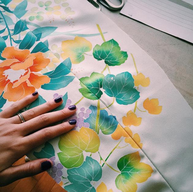 Matching patterns on kimono