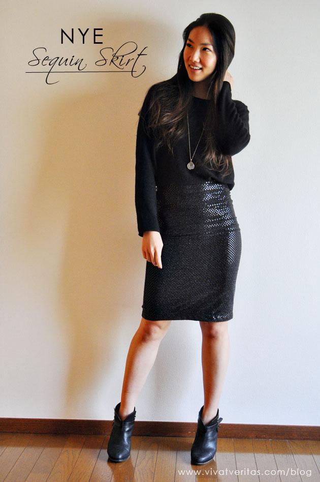 New Years Eve Handmade sequin skirt