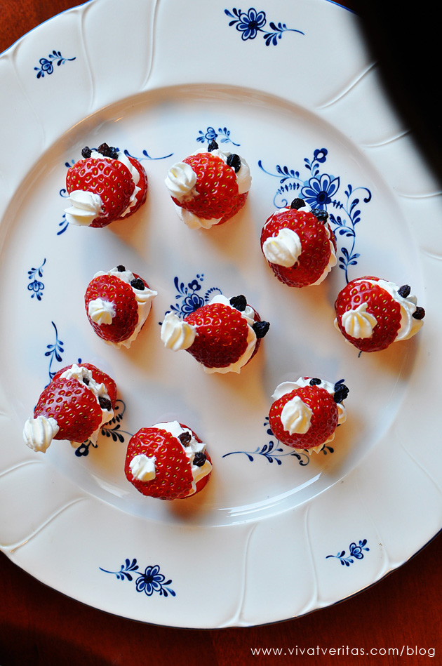 Santa shaped strowberries
