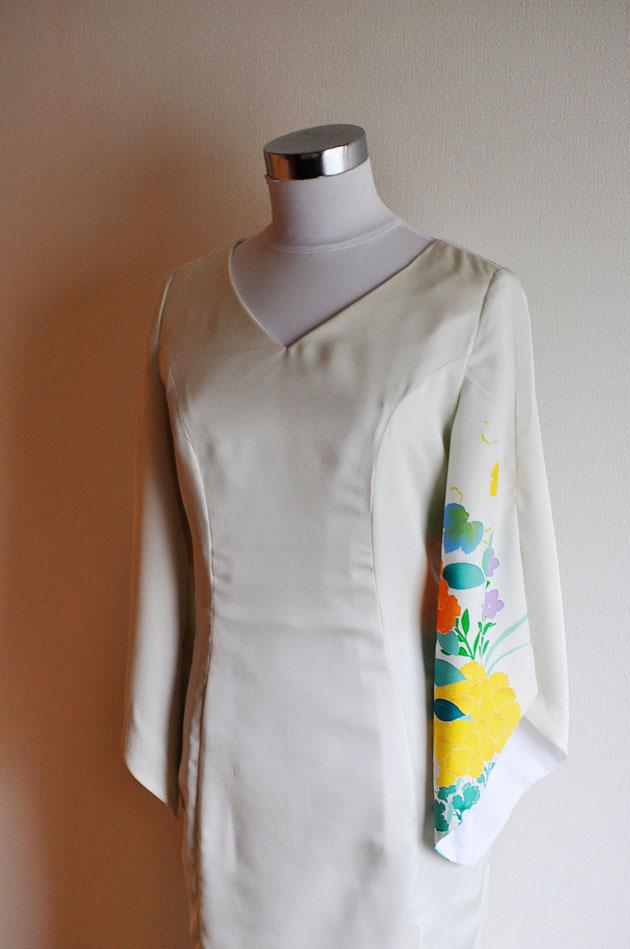 kimono dress in cream