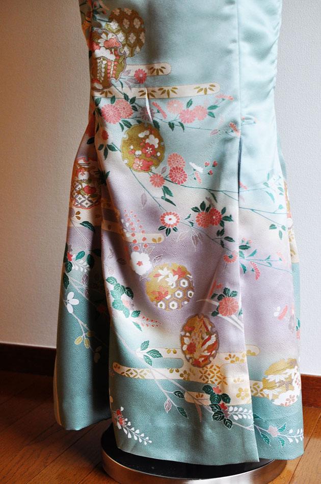 kimono dress in emerald
