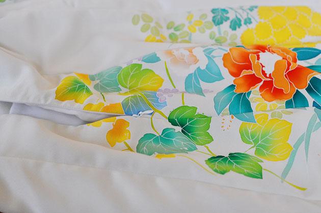 zipper insertion kimono dress