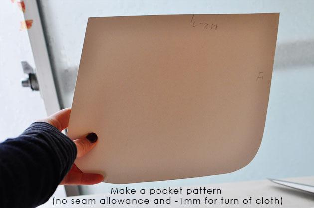 step 2 make a pocket pattern