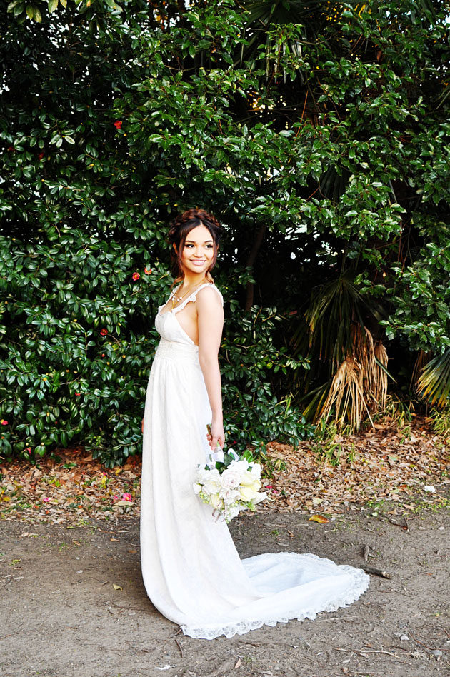 bridal photo in hamarikyu