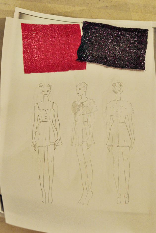 j pop costume sketch