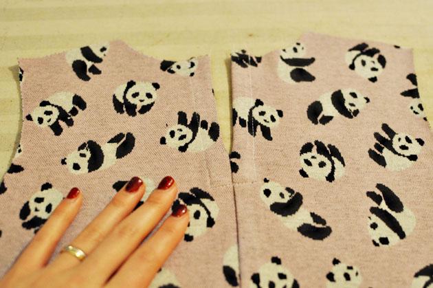 making panda dress