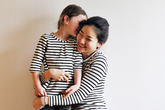 mother daughter matching stripes top and bodysuit