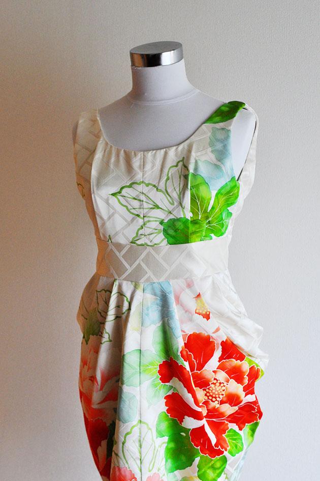 cream color kimono dress