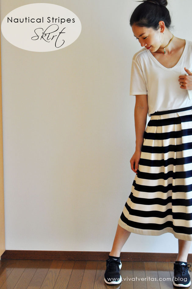 nautical stripes skirt by vivat veritas