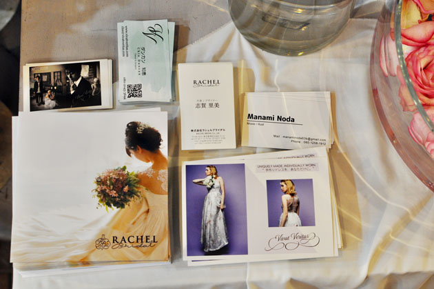 flyers at wedding event