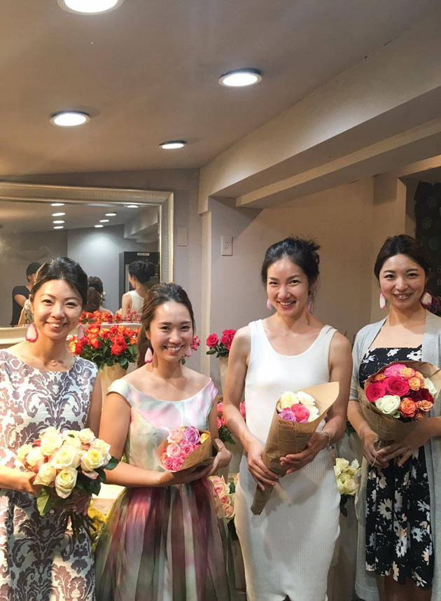 satomi chie at wedding event